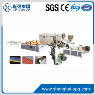 PVC Single/Multi Layer Heat Insulation Corrugated Board & Step-Roofing Extrusion Line