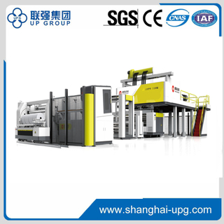 High speed automatic three layers or five layers cast stretch film machine with a center winder